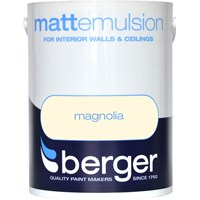 Berger  Matt Emulsion Magnolia Paint - 5 Litre