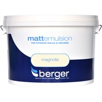 Berger  Matt Emulsion Magnolia Paint - 10 Litre