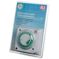 Kingshield  7 Day Electronic Socket Box Timer - 16 Amp