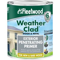 Fleetwood Weather Clad Exterior Penetrating Primer Clear Paint - 750ml