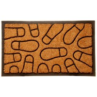Trojan  Coco Rubber Moulded Rectangular Mat
