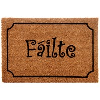Trojan  Coco Vinyl Backed Flocked Failte Mat