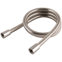 Aquatora  Hi-Flow Double Interlock Shower Hose - Stainless Steel