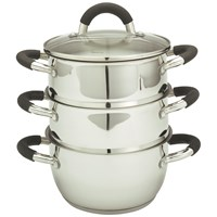 Ready Steady Cook Bistro 3-Tier Steamer with Lid - 18cm