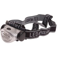 Lighthouse  Silver 3 Function 8 LED Headlight