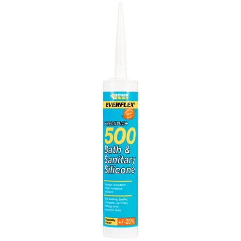 Everbuild  500 Bath & Sanitary Silicone 310ml - Sandstone