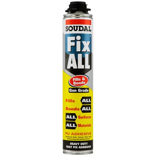 Soudal  Fix All Fills Bonds PU Adhesive Gun Grade - 750ml